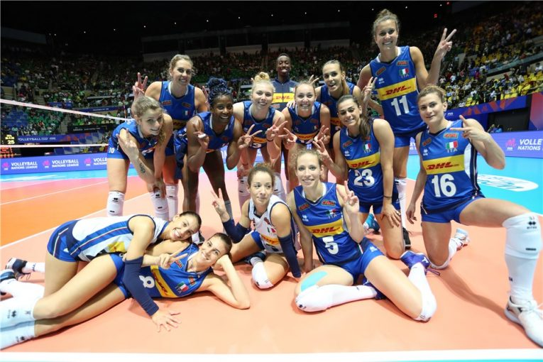 Volleyball Nations League: tutto facile per le azzurre, 3-1 all'Olanda