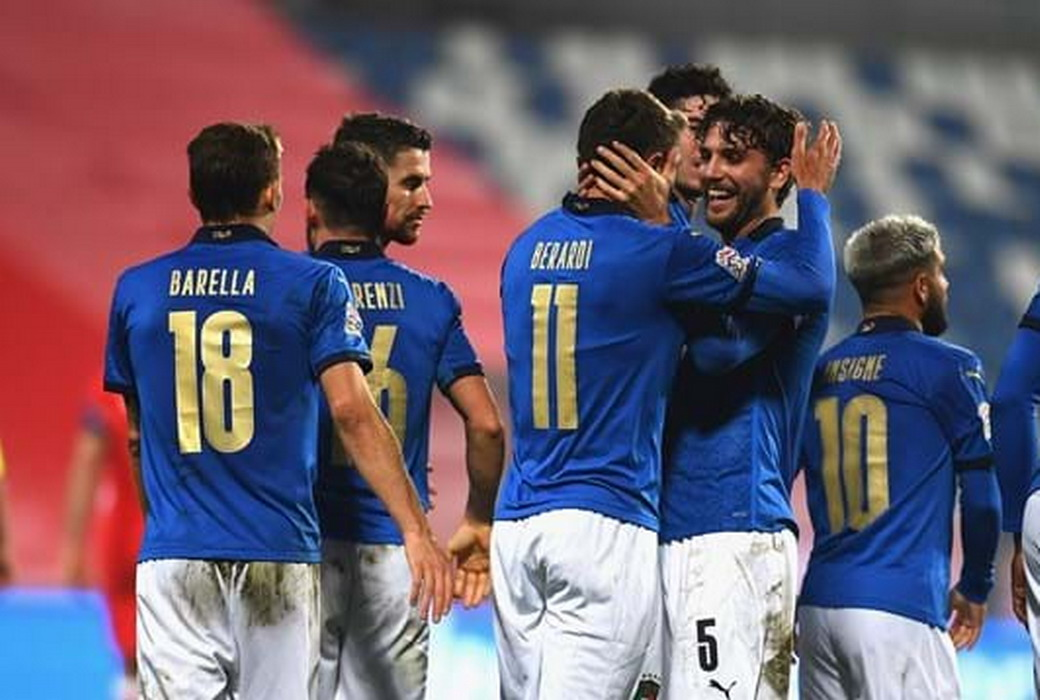 Nations League: l'Italia batte la Polonia 2-0 e vola in testa al girone